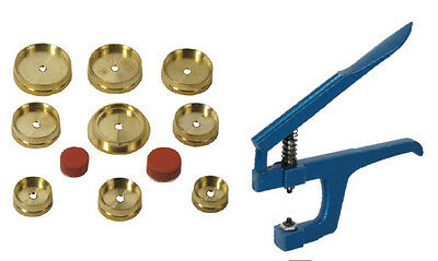 12 Piece Watch Case Snap Back Press Watchmakers Jewelry Repair Tools Brass