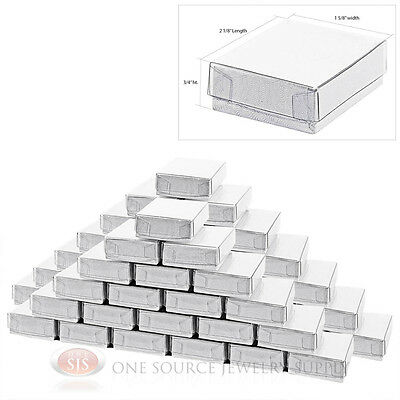 """50 New White Clear View Top Gift boxes 2 1/8"""" x 1 5/8"""""""