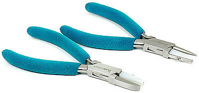 """2pc 5 3/4"""" Wire Forming Pliers Round Half Round Flat Jaw Jewelers Working Plier"""