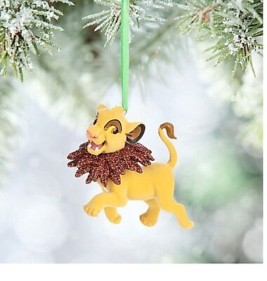 Disney Store Authentic The Lion King Simba Christmas Holiday Ornament Figure NEW