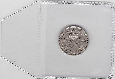 1952 George Vi Sixpence In Very Fine Or Better Condition
