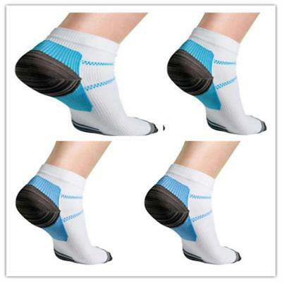 New! 2Pcs Compression Plantar Fasciitis Sleeve Socks Pain Relief Foot Heel Arch