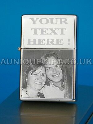 Petrol Lighter Personalised Photo Engraved Gift New