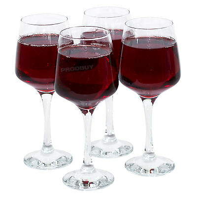 Set of 4 Modern Nova 29cl Red White Wine Goblets Glasses Dishwasher Safe Wedding