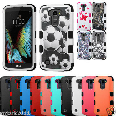 Anti-Shock Impact Resist Hard Case+Soft Skin Cover for LG K10 Premier LTE L62VL