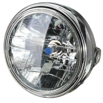 7'' Inch Motorcycle Round Headlight Halogen H4 Bulb Head Lamp Side Mount Style