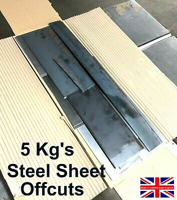 5 kg's MILD STEEL SHEET Plate Strips Offcuts Bargain Price Be Quick Guillotine