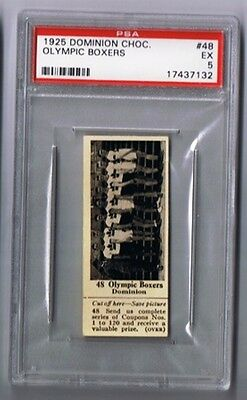 1925 Dominion Choc. Sports Card #48 Olympic Boxers (Boxing) Graded PSA 5