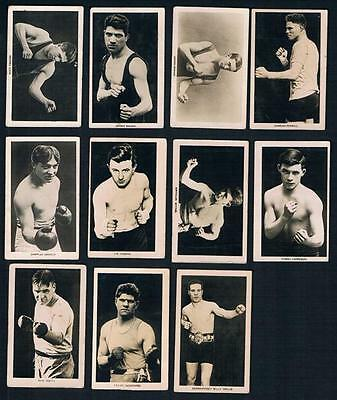 1922 Boys' Friend Rising Boxing Stars Series Lot of 11 Boxing Cards