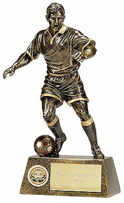 Football Man Trophy Soccer Resin Award Ball 6 Sizes Available Engraved Free