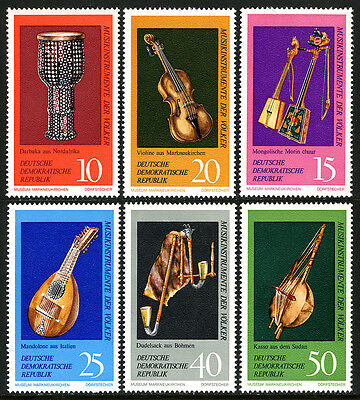 Germany DDR/GDR 1330-1335,MNH.Musical instruments,Music Museum,Markneukirch,1971