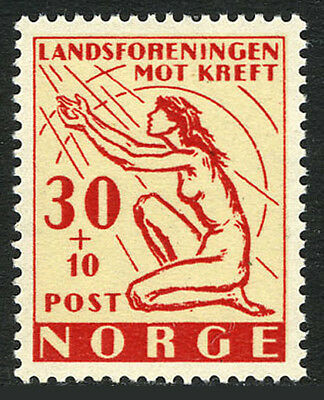 Norway B53, MNH. Cancer research. Kneeling Woman, 1953