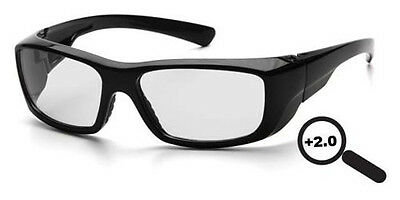 Pyramex Emerge Full Lens Magnification Safety Glasses 2.0 Power