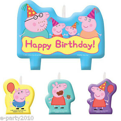 PEPPA PIG CANDLE SET (4pc) ~ Birthday Party Supplies Cake Decorations Nick Jr