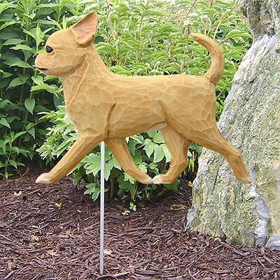 Chihuahua Outdoor Garden Sign Hand Painted Figure Fawn