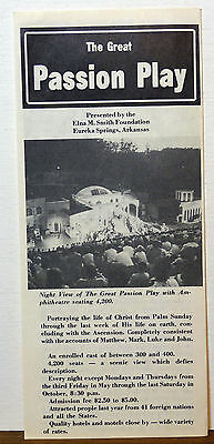 1970's Eureka Springs Arkansas The Great Passion Play informational brochure b