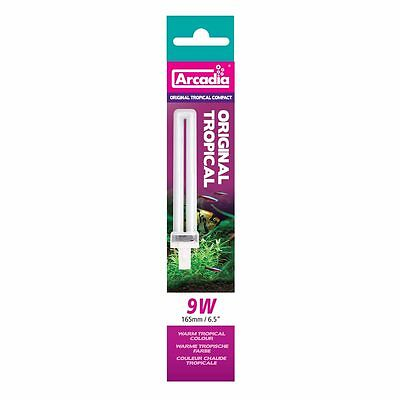 Arcadia Original Tropical Compact 9W,G23 165mm Tube Luminaires Remplacement
