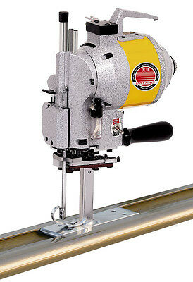 """5"""" Straight  fabric end cutter machine up to 96"""" across ,semi automatic complete"""