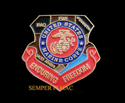 Operation Enduring Freedom Oef Middle East Map Hat Pin Up Us Marines Mar Div Maw