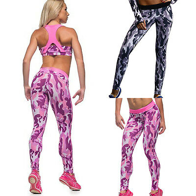 2016 Women Workout Camouflage Tracksuit Fitness Gym Yoga Sports Long Pants