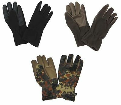 warm FLEECE MITTENS Gloves Winter Men's windproof black olive ft