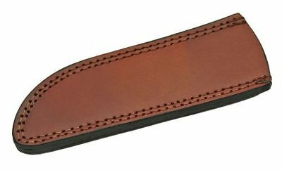 "FIXED-BLADE KNIFE BELT SHEATH Brown Leather 8.25"" Fits 8"" x 1.75"" Blade A"