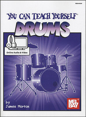 You Can Teach Yourself Drums Method Music Book with Audio & Video Drumset Drum