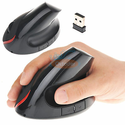 5D 2.4GHz Wireless Ergonomic Vertical Optical Mouse Mice 1600 DPI for PC Laptop