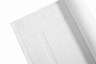 White Bath Mats Terry Towelling 100% Cotton 1000GSM Heavy Quality Pack of 2