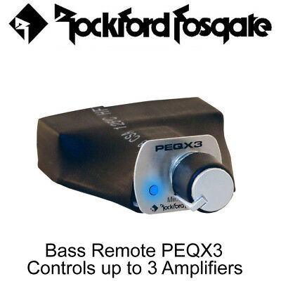 Rockford Fosgate PEQX3 - Bass Remote PEQ Controls up to 3 Amplifiers
