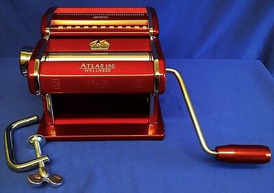 Marcato Atlas 150 Wellness Pasta Maker Machine - Red - Quality Italian Made