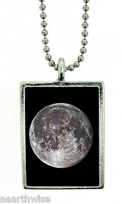 1 X FULL MOON FOR MANIFESTING PENDANT Wicca Witch Reiki Pagan Goth