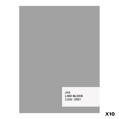JAS : Lino Block : 3.2mm : Grey : 10 Pack : 150x200mm