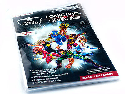 100 pochettes protection Comics Silver size refermables neuf  Ultimate guard