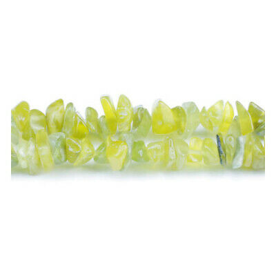 Long Strand Of 240+ Yellow Olive Jade 5-8mm Chip Beads GS5205