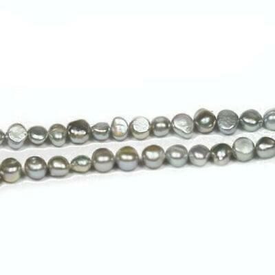 Strand Of 60+ Silver Freshwater Pearl 5-6mm Baroque Potato Beads FP1678-2