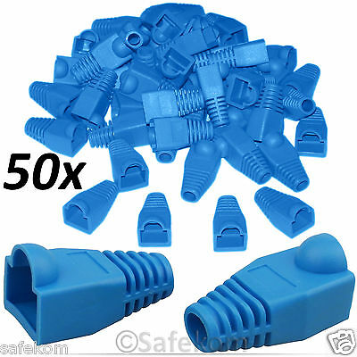 50x RJ45 CAT5e CAT6e Network Ethernet LAN Cable Ends Plug Connector Cover Boots
