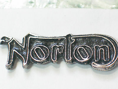 Vintage Norton Name Motorcycle Pin Badge