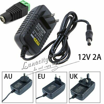 1A 2A DC 12V Power Supply Charger Transformer Adapter For 3528 LED Strip+Free DC