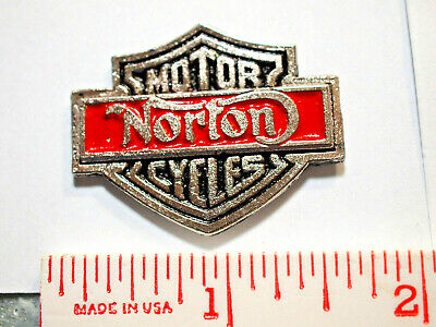 Norton Sm Shield Motorcycle Pin Badge (Choice of 1-Silvertone or Goldtone)