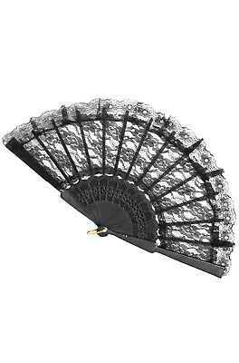 Lace Fan Costume Accessory (Black)