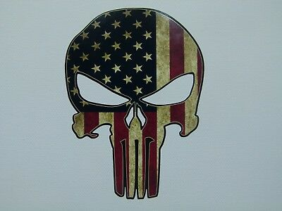 2x Punisher USA Oldschool Aufkleber Sticker Vintage Retro US Cars V8 Bikes