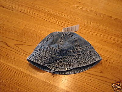 The Childrens place infants hat cap baby jean NWT babys place 0-6 Mos months