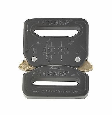 "AustriAlpin 25mm / 1"" Black Cobra Buckle - Male Fixed  Female Fixed FC25KFF"