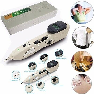 2017 New Stimulator CE LCD Electronic Massage Acupuncture Meridian Pen