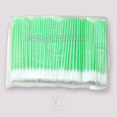 100x Foam Tipped Cleaning Swabs Solvent Inkjet Printer Mimaki Roland Mutoh Epson