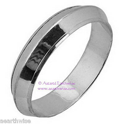 1 x SILVER PLATED BRASS INDIAN BANGLE BRACELET Wicca Pagan Witch Goth Goddess