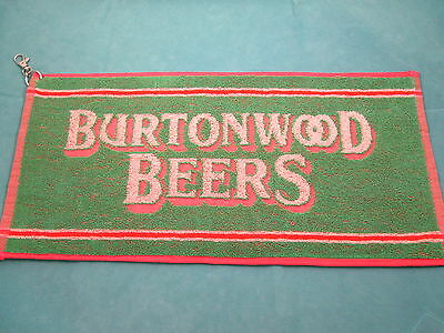 New Burtonwood Beers golf towel - 50 x 23 cms - clips to golf bag