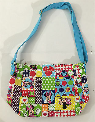 Disney Parks  Minnie Mouse Adjustable Strap Collage Purse NEW LAST ONE