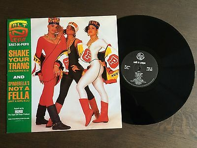 "SALT N PEPA Shake Your Thang 12"" 1988 EX+/NM vinyl single record Hip Hop FFRX 11"